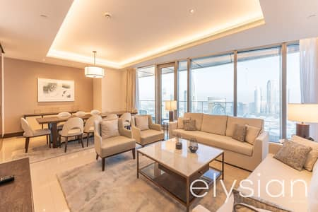 4 Bedroom Flat for Sale in Downtown Dubai, Dubai - Stunning | Furnished 4 Bedrooms | Sky Views
