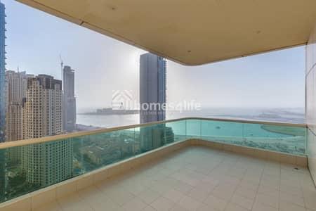 4 Bedroom Flat for Sale in Dubai Marina, Dubai - Full Sea View   High Floor   Unique Unit