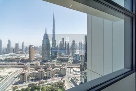 شقة 2 غرفة نوم للايجار في مركز دبي المالي العالمي، دبي - Full Burj View | Large layout|  Corner Unit  2 Bedroom for rent