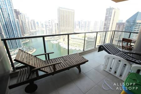 2 Bedroom Apartment for Sale in Dubai Marina, Dubai - Two Beds | High Floor | Full Marina View
