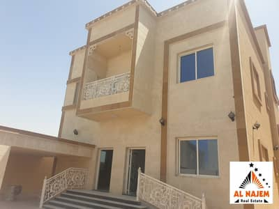 5 Bedroom Villa for Sale in Al Mowaihat, Ajman - The sale is a new luxury design villa in Al Mowaihat 1 area in Ajman, with the possibility of bank, cash or housing financing