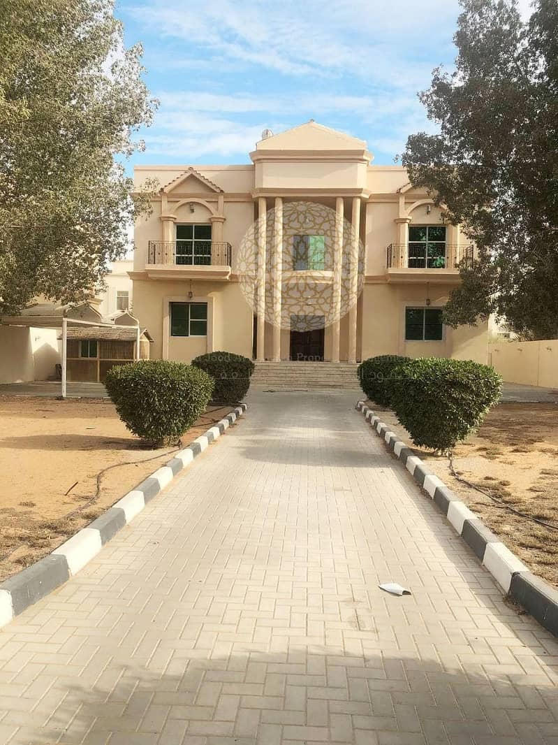 STUNNING STAND ALONE  5 MASTER BEDROOM VILLA WITH MAID ROOM AND DRIVER ROOM FOR RENT IN KHALIFA CITY A