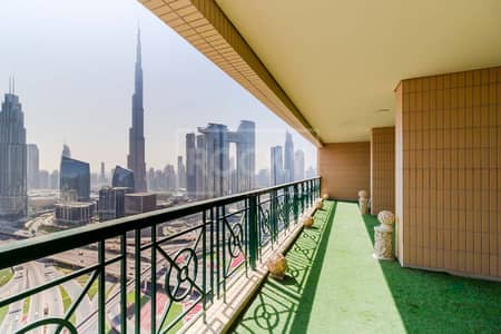5 Bedroom Penthouse for Rent in Sheikh Zayed Road, Dubai - Chiller Free | Closed Kitchen | Burj Khalifa View