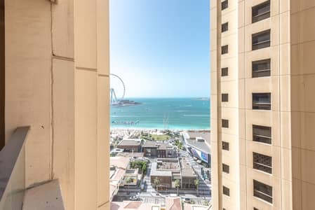 3 Bedroom Apartment for Rent in Jumeirah Beach Residence (JBR), Dubai - Full Sea View | Furnished | Spacious Apt