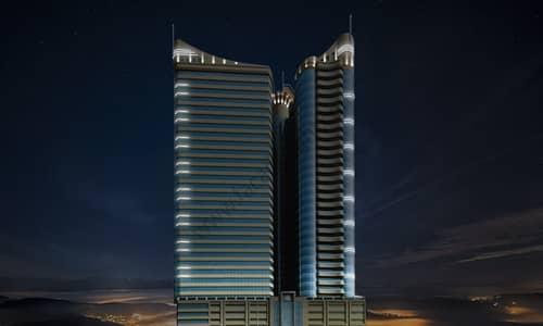 فلیٹ 2 غرفة نوم للايجار في شارع الشيخ مكتوم بن راشد، عجمان - CONQUEROR TOWER AJMAN