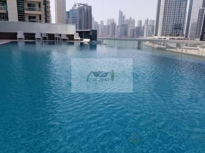 فلیٹ 2 غرفة نوم للايجار في الخليج التجاري، دبي - FULL SEA VIEW LIKE BRAND NEW 2BHK WITH MAID ROOM KITCHEN  EQUIPMENT GYM POOL 1 PARKINGS 75K