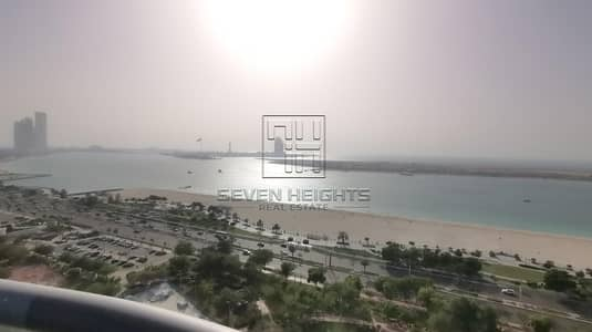 3 Bedroom Flat for Rent in Corniche Area, Abu Dhabi - 3BR+Maid with Large Balcony |Sea & Community View!