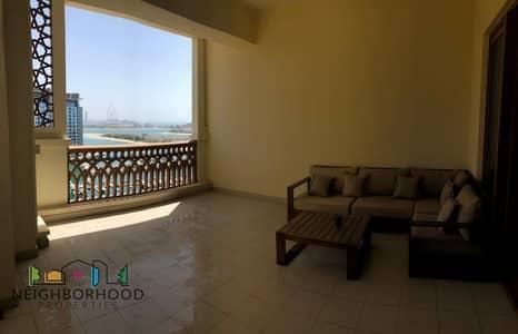 شقة 2 غرفة نوم للايجار في نخلة جميرا، دبي - STYLISH FULLY FURNISHED 2 BEDROOM ON HIGH FLOOR WITH AMAZING SEA VIEW AND BEACH ACCESS