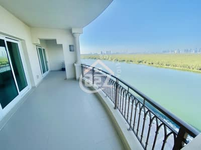 3 Bedroom Apartment for Rent in Eastern Road, Abu Dhabi - Mangrove View 3 BR with Maid Room