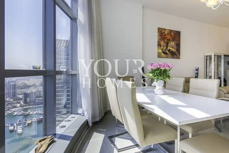 3 Bedroom Flat for Rent in Dubai Marina, Dubai - Furnished 3 Bedroom Apartment with Breathtaking View