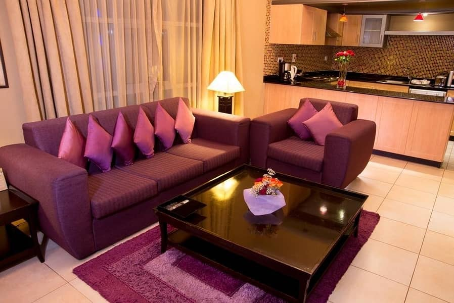 Fully Furnished and Elegantly Designed One Bedroom Apartments | Up to 12 cheques!