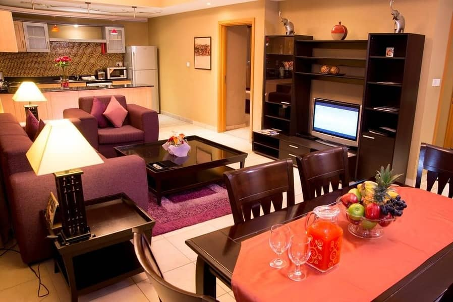 2 Fully Furnished and Elegantly Designed One Bedroom Apartments | Up to 12 cheques!