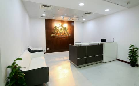 Office for Rent in Sheikh Zayed Road, Dubai - Furnished Offices with amazing Burj Khalifa and Sea Side View
