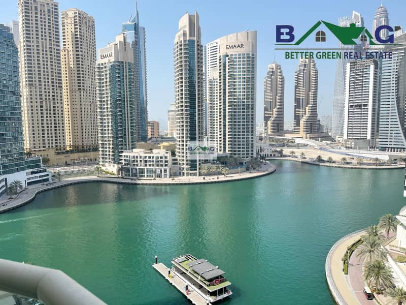 Full Marina View Fully Furnished 2 BR High Floor with Balcony