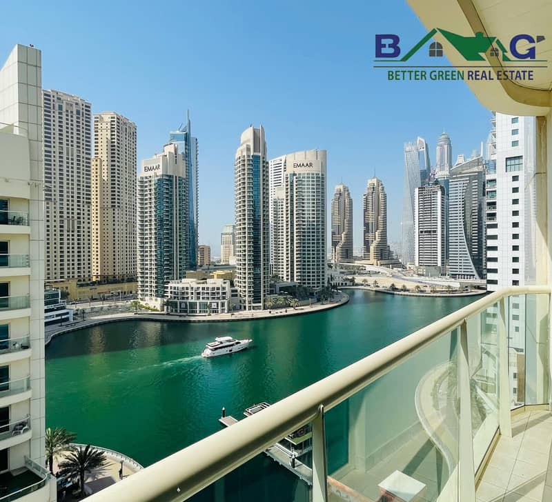 2 Full Marina View Fully Furnished 2 BR High Floor with Balcony