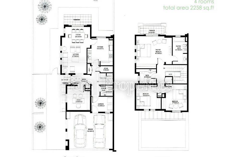 26 3E / Single Row / Corner Unit / Large Plot