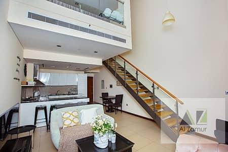 شقة 1 غرفة نوم للايجار في مركز دبي المالي العالمي، دبي - Luxurious  Duplex 1 BR Shk zahid+Sea View