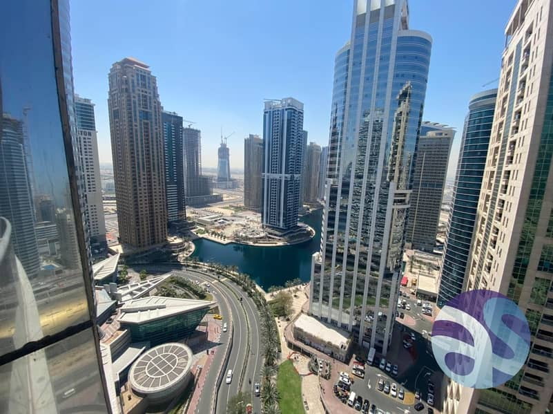 FURNISHED ! LAKE / SHZ ROAD VIEW ! INDIGO TOWER !  CLUSTER D