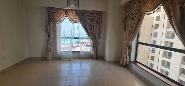 3 Bedroom Apartment for Rent in Jumeirah Beach Residence (JBR), Dubai - Blue Water View Huge Furnished 3 Beds  Maid Room High Floor