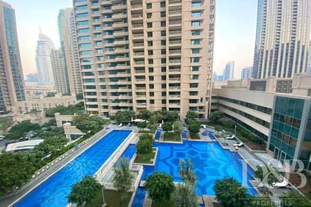 1 Bedroom Apartment for Rent in Downtown Dubai, Dubai - 1 Bed I 1 Bath I Burj View I Central AC