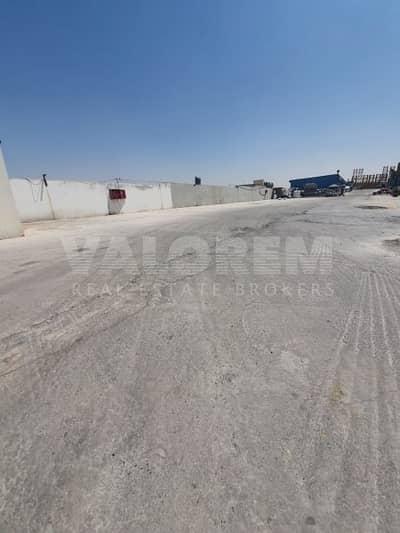 ارض تجارية  للايجار في عجمان الصناعية، عجمان - Boundary wall | 8000 sqft | Al jurf | Main road
