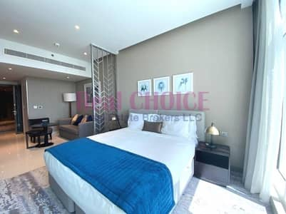 Studio for Rent in Business Bay, Dubai - Full Canal View | High Floor | Fully Furnished