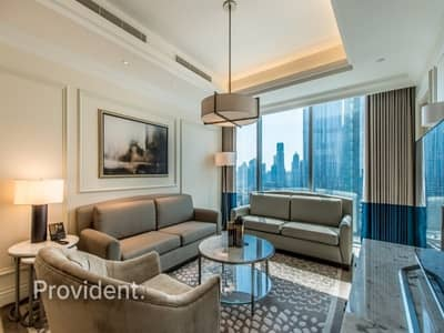 1 Bedroom Apartment for Rent in Downtown Dubai, Dubai - Furnished and Serviced | Full Burj Khalifa View