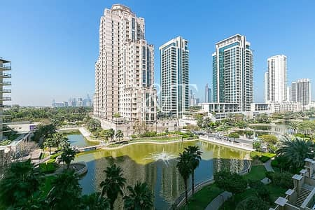 شقة 2 غرفة نوم للايجار في ذا فيوز، دبي - Exclusive | Managed | Full Lake View
