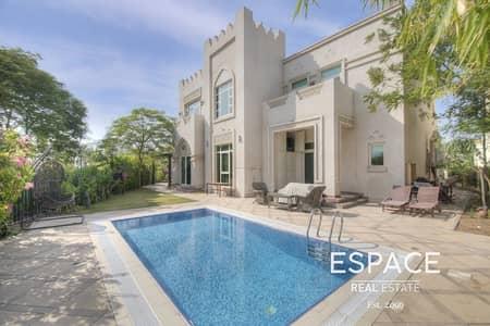 4 Bedroom Villa for Sale in Jumeirah Islands, Dubai - Vacant | Entertainment Foyer | Park Views