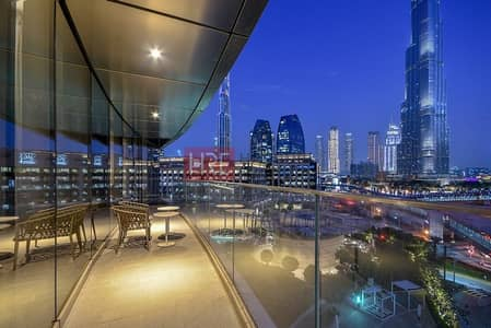 2 Bedroom Apartment for Rent in Downtown Dubai, Dubai - Rare Fully Furnished |Serviced 2BR|Burj Khalifa View