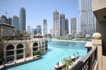 1 Bedroom Flat for Rent in Downtown Dubai, Dubai - Balcony | Large 1Bed | Furnished | Fountain View