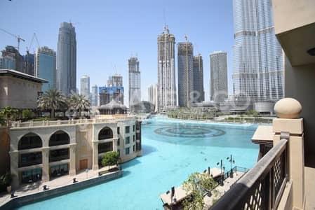 فلیٹ 1 غرفة نوم للايجار في وسط مدينة دبي، دبي - Balcony | Large 1Bed | Furnished | Fountain View