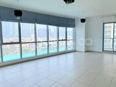 شقة 2 غرفة نوم للايجار في وسط مدينة دبي، دبي - Full Burj and Fountain View | Balcony | with Study