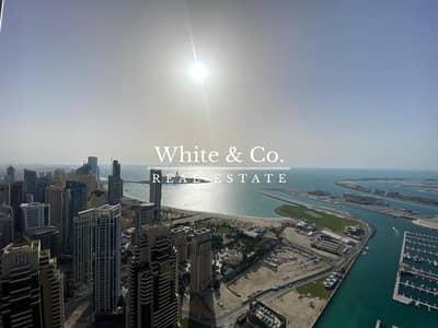 بنتهاوس 4 غرف نوم للبيع في دبي مارينا، دبي - Penthouse - Half Floor - Upgraded - Sea views