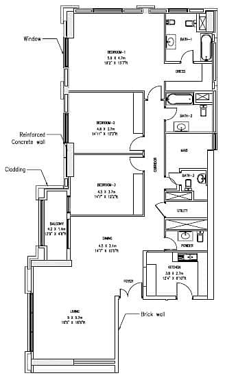 10 Upgraded | 3 Bedrooms + Maid | Low Floor