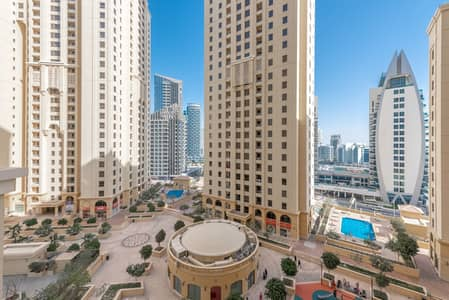 شقة 1 غرفة نوم للايجار في جميرا بيتش ريزيدنس، دبي - Courtyard View | Unfurnished | Spacious