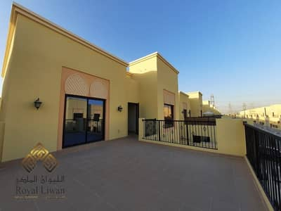 4 Bedroom Townhouse for Rent in Nad Al Sheba, Dubai - s Brand new Yellow Color East facing villa for Rent