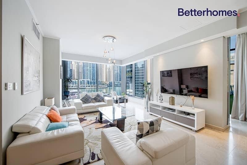 2 Astonishing Full Marina View| Low Floor |Furnished