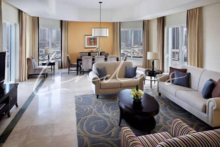 شقة فندقية 3 غرف نوم للايجار في دبي مارينا، دبي - Luxury Furnished & Serviced 3 and 2 Bedrooms Apartment