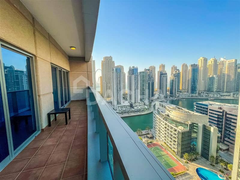 2 Marina view / large balcony / chiller free
