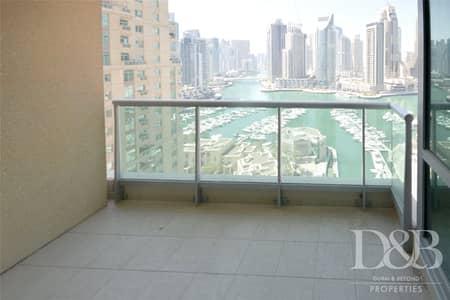 فلیٹ 3 غرف نوم للبيع في دبي مارينا، دبي - Full Marina View | Unfurnished | Maids Room
