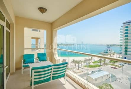 1 Bedroom Flat for Rent in Palm Jumeirah, Dubai - Full sea view | Furnished 1 BHK | Mid floor