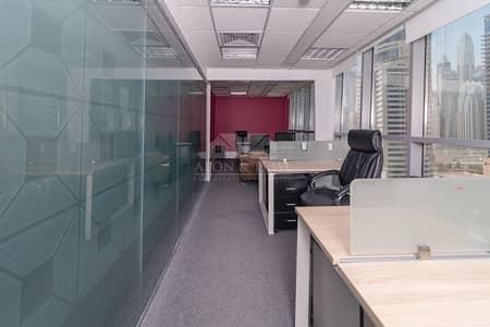 مکتب  للايجار في أبراج بحيرات الجميرا، دبي - Excellent Lake View | Furnished and Fitted Office