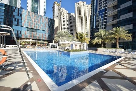 1 Bedroom Flat for Rent in Dubai Marina, Dubai - Bay Central West 1 Bed  Sea View.Unfurnished