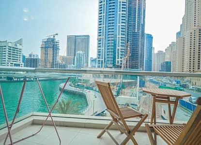 1 Bedroom Apartment for Sale in Dubai Marina, Dubai - Marina view | Low floor | Chiller free
