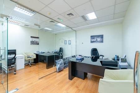 مکتب  للايجار في واحة دبي للسيليكون، دبي - Immaculate fully fitted office | palace towers DSO