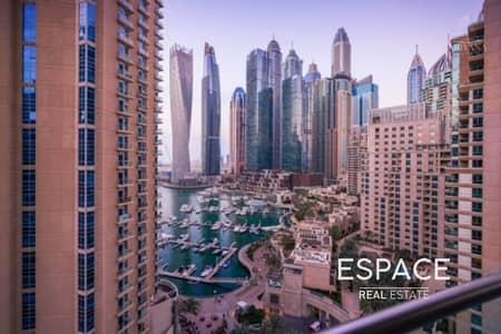 شقة 3 غرف نوم للايجار في دبي مارينا، دبي - Large Layout | 3BR Plus Maids and Study | Marina View