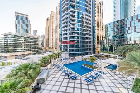 شقة 1 غرفة نوم للبيع في دبي مارينا، دبي - Furnished   Pool View   Rented for Short term   7 % ROI