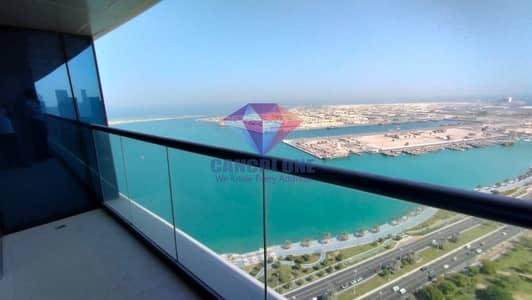شقة 3 غرف نوم للايجار في منطقة الكورنيش، أبوظبي - New style close kitchen with sea view with facilities