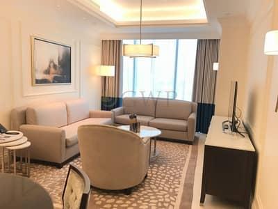 شقة فندقية 1 غرفة نوم للايجار في وسط مدينة دبي، دبي - All Inclusive | Higher Floor | Facing The Burj |